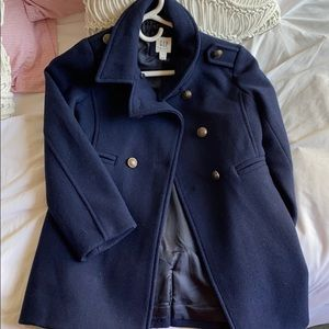 Gap kids girls' medium navy pea coat